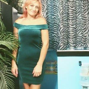 Forever 21 velvet green dress.